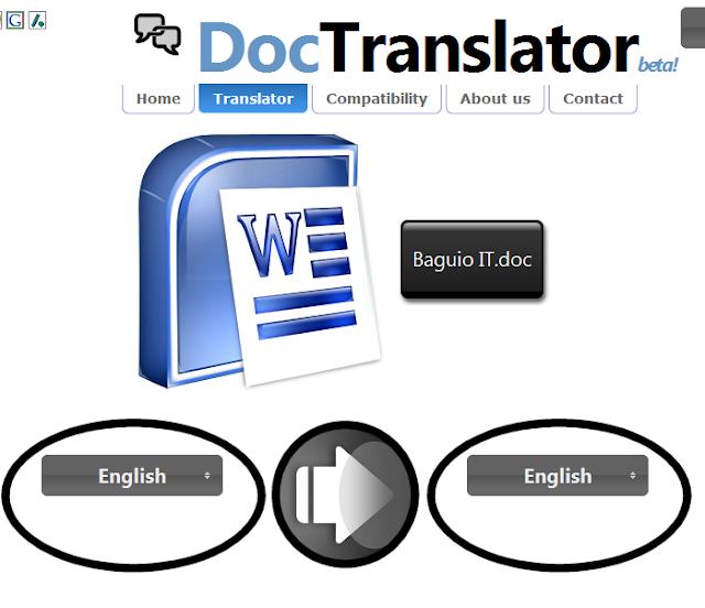 Doc Translator 1 - Sức mạnh của phần mềm dịch thuật online